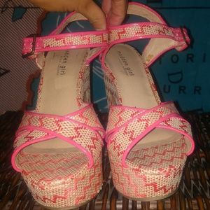 Madden girls strappy woven pink shoes